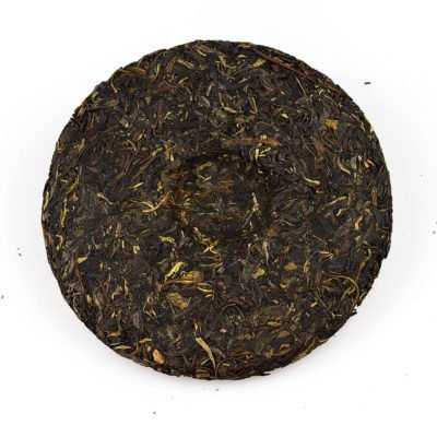 2014 Yiwu Pu'erh Raw Tea Cake 400g inside
