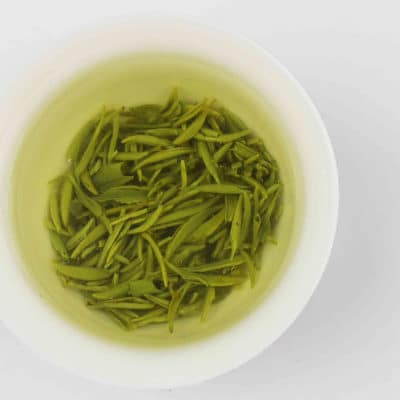 Green Tip Tea (Xinyang Maojian) Brewed