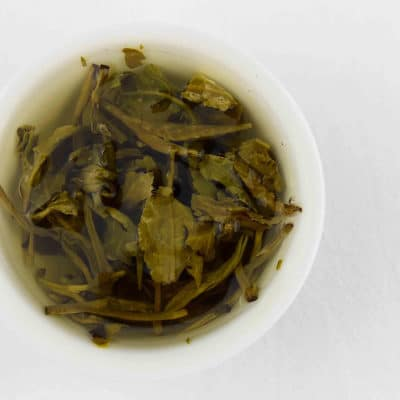 Jasmine Dragon Pearls Tea Brewed