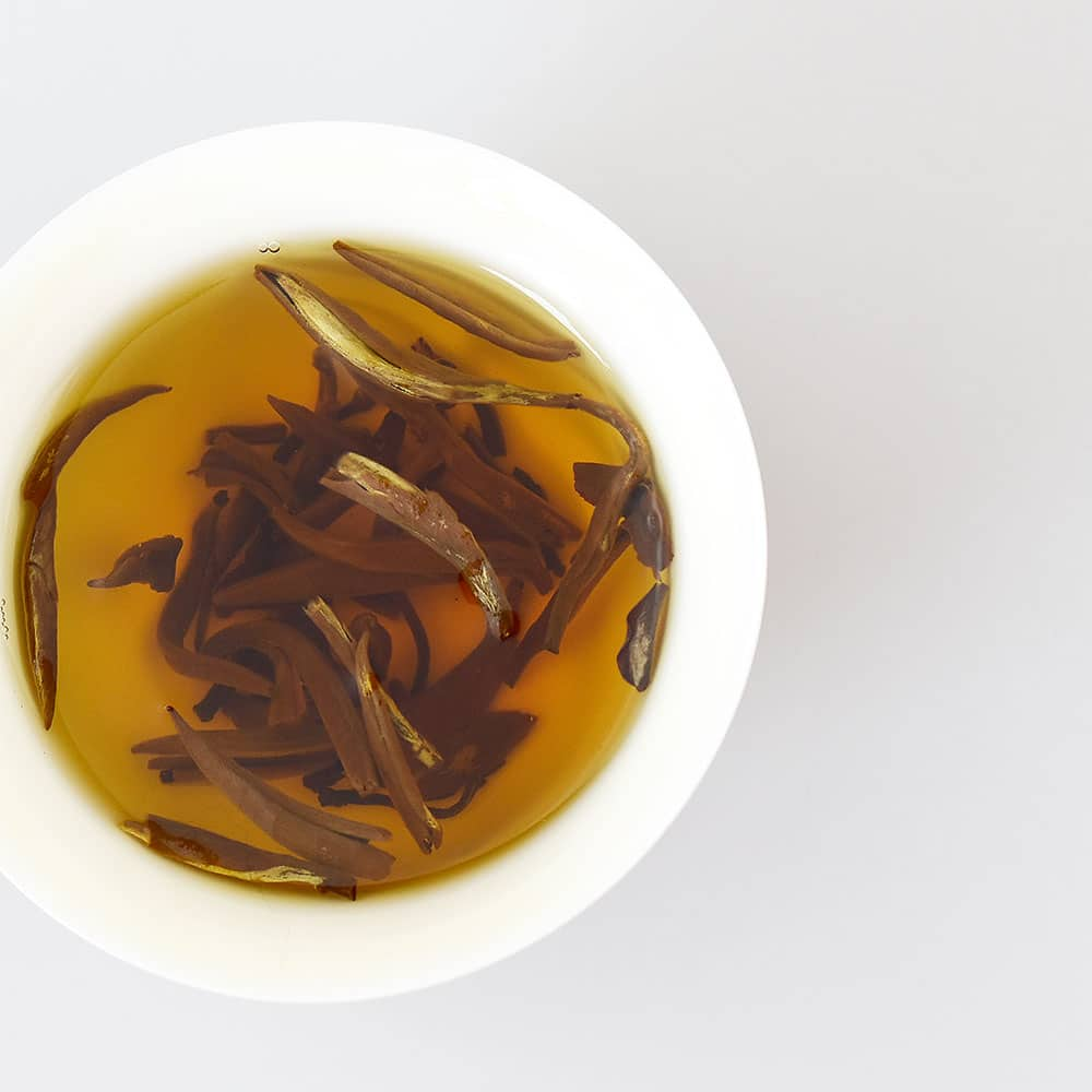 Yunnan Golden Tips Tea (Da Jin Ya) Brewed