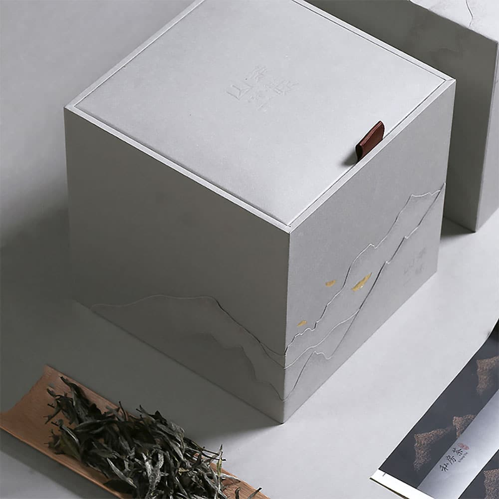 Grey Gift Cube