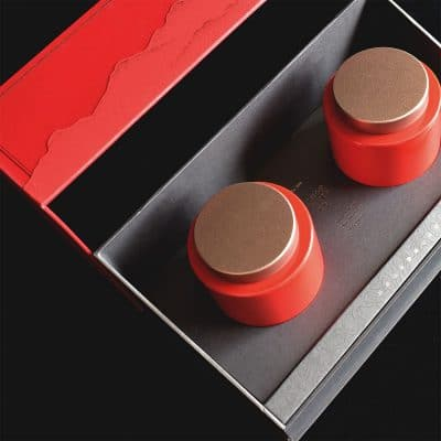 Double Tea Tin Gift Box (Red)